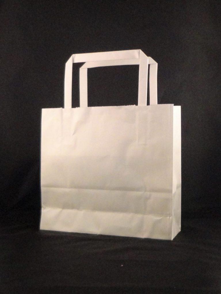 紙手提袋白