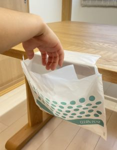 テープ付きゴミ袋CLEANPON画像